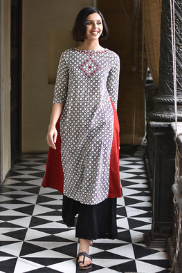 "Okhai ""Kutch Queen"" Hand Block Printed Dress"