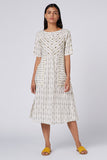 Okhai 'Prestige' Embroidered Cotton Ikkat Dress
