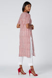 Okhai 'Pink Hope' Cotton Hand Block Print Kurta