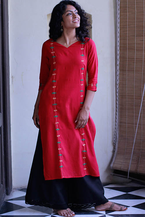 Okhai 'Vibrant Heritage' Embroidered Long Kurti