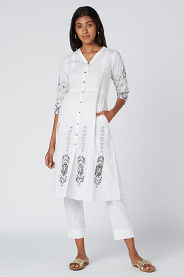 Okhai 'Mercy' Appliqué Cotton Cambric Kurta