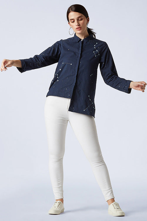 Okhai 'Cascade' Cotton Embroidered Shirt