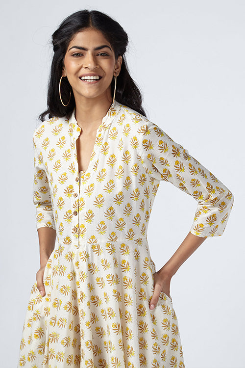 Okhai 'Staycation' Hand Block Print Cotton Dress