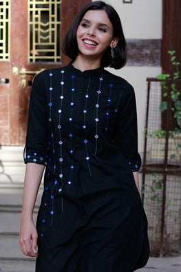 "Okahi ""Shooting Stars"" Mirror Work Kurti"