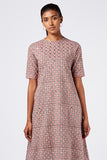 Okhai 'Starlet' Embroidered Cotton Hand Block Print Dress