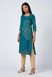 Okhai 'Tree Of Life' Embroidered Cotton Kurta