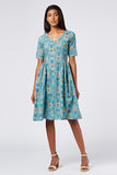 Okhai 'Lush' Cotton Hand Block Print Dress