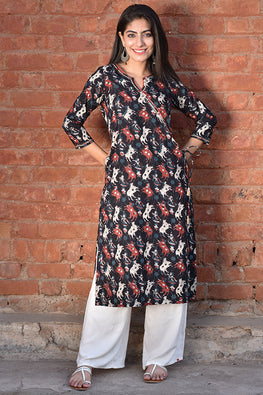 Okhai 'Quirky Chic' Cotton Dhabu Kurta