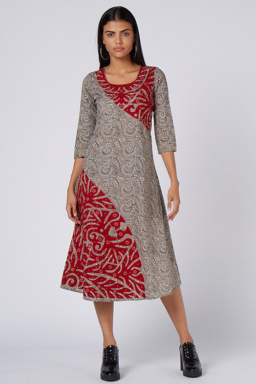 Okhai 'Fiesta Appliqué' Cotton Mirror Work Dress