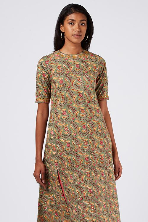 Okhai 'Sweet Blossoms' Cotton Hand Block Print Kurta