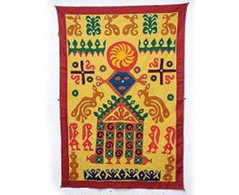 Okhai Yellow Village Story Wall Hanging