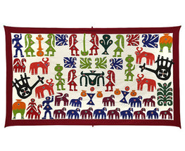 Okhai White Village Themed Wall Hanging