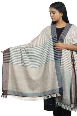 Handspun cotton Azo-free dyed dupatta-2-shaft weave-style 1046