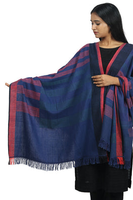 Handspun cotton Azo-free dyed dupatta-2-shaft weave-style 779
