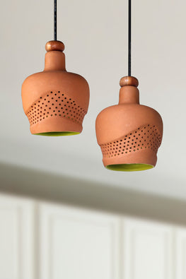 WAVE Design1 Terracotta Pendent Lamp