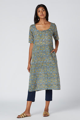 Okhai 'Blessed' Embroidered Cotton Mul Kurta