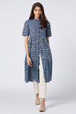 Okhai 'Keya' Cotton Hand Block Print Embroidered Dress
