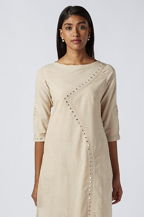Okhai 'Ayura' Embroidered Cotton Kurta
