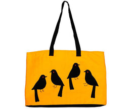 "Okhai ""Yellow Sparrow Applique Bag"""