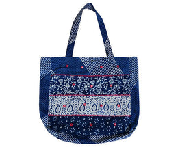 "Okhai ""Indigo Printed Shopping Bag"""