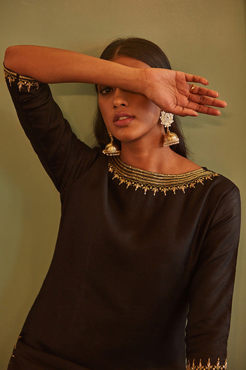 Black Rose Long Kurta