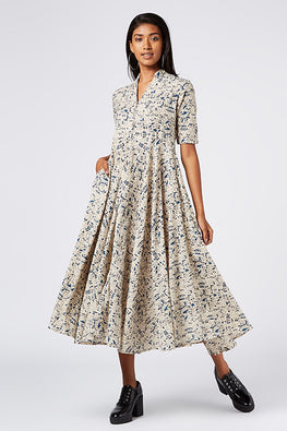 Okhai 'Folk Story' Cotton Hand Block Print Dress