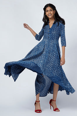 Okhai 'Bluejay' Cotton Mul Mul Dress