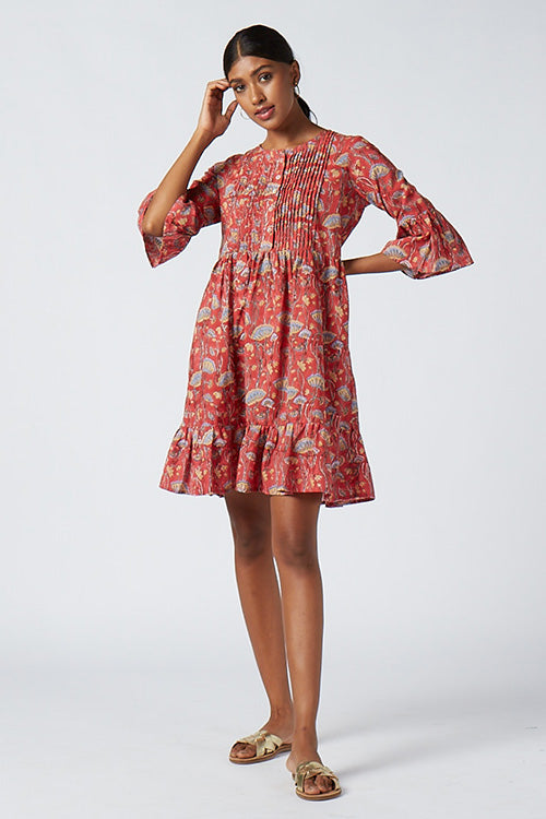 Okhai 'Boulevard' Cotton Hand Block Print Dress