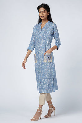 Okhai 'Santiago' Embroidered Cotton Mul Kurta