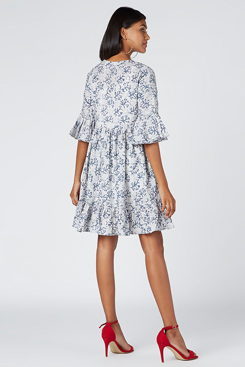 Okhai 'Cheer' Cotton Hand Block Printed Dress