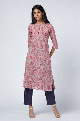 Okhai 'Crush' Cotton Hand Block Print Kurta