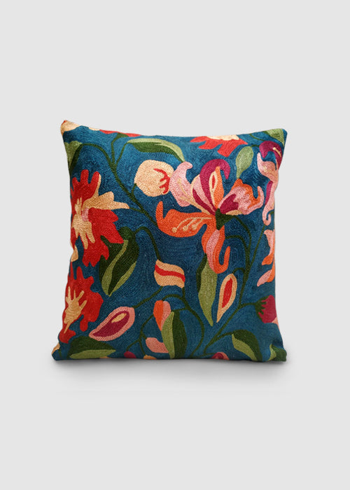 Kashmir Chainstitch Cushion Cover-12
