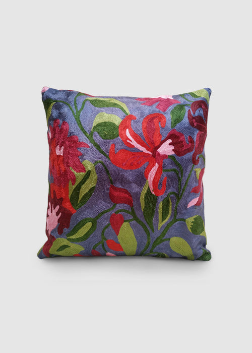 Kashmir Chainstitch Cushion Cover-13