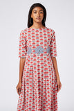 Okhai 'Aura' Appliqué Cotton Hand Block Print Dress