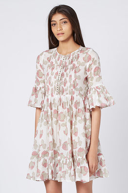 Okhai 'Hanoi' Embroidered Cotton Hand Block Print Dress