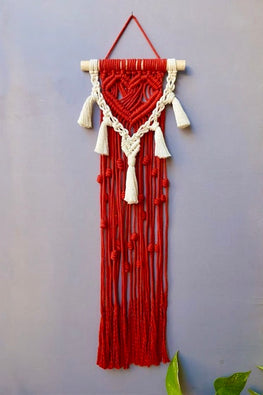 Heart-beat Handcrafted Macrame Wall Hanging Online