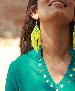 Okhai Sunshine Glass Bead Earrings