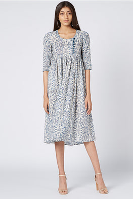Okhai 'Budapest' Cotton Hand Block Print Dress