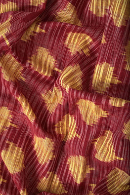 Safe-Dye-Random-Ikat-Cotton-Fabric