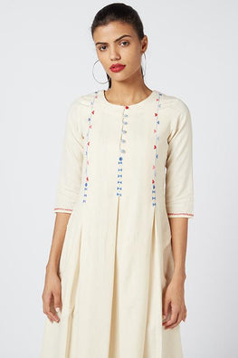 Okhai 'Anne' Embroidered Cotton Handloom Dress