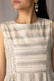 Creative Bee 'ETHEL' Handwoven Ikat Front Pockets Patterened Pure Cotton Sleeveless Dress
