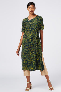 Okhai 'Essence' Cotton Hand Block Print Dress