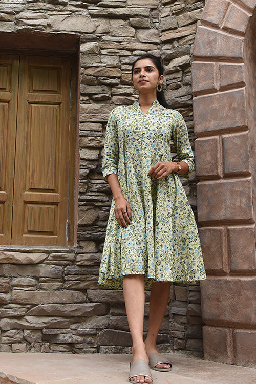 Okhai 'Valerie' Cotton Hand Block Print Dress