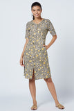 Olivia Hand Block Print Cotton Dress For Ladies Online