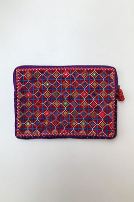 Shrujan Jat Embroidery Pouch-16