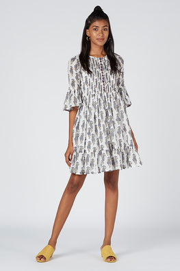 Okhai 'Vacay' Cotton Mul Embroidered Dress