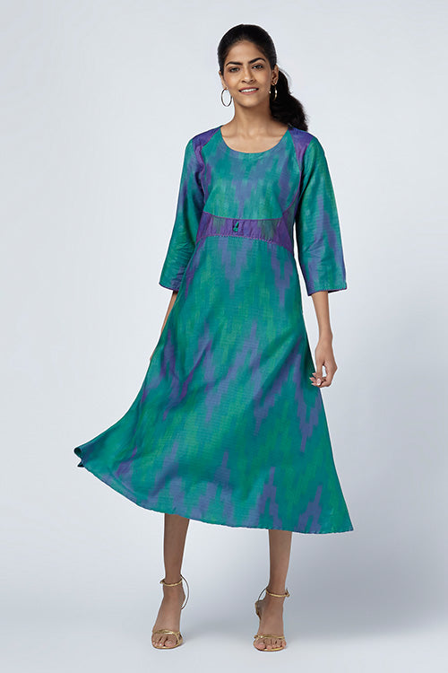 Okhai 'Reva' Silk Blend Ikat Dress