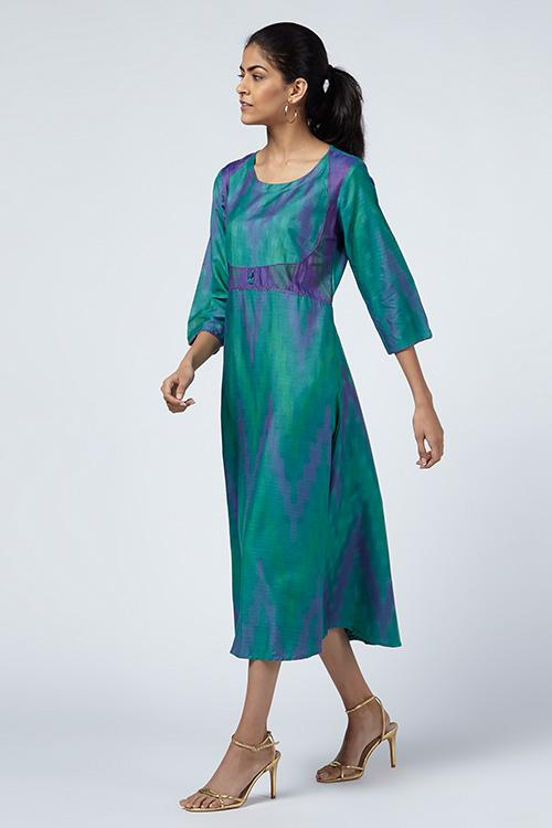 Okhai 'Reva' Silk Ikat Dress