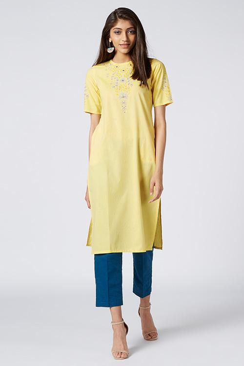 Okhai 'Sheba' Embroidered Cotton Kurta