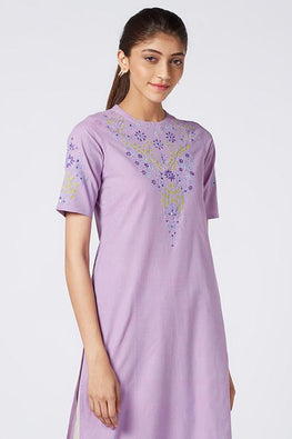Okhai 'Viola' Embroidered Cotton Kurta
